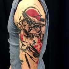 Bildergebnis für polka trash art tattoo owl