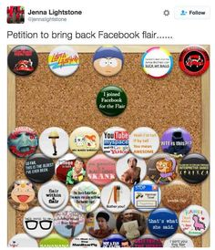 …Facebook flair…