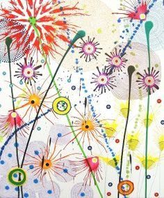 Fine Flowers Blog by bbrooks » Blog Archive » Dan Bennett – abstract floral paintings