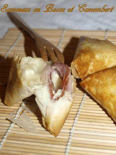 Samoussa au bacon et camembert - Dans vos assiettes