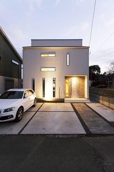 Facade Design, House Design, House Tokyo, Muji Home, Modern House Facades, Building Facade, House Entrance, Facade House, House Front