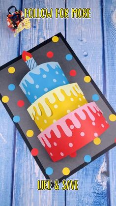 Diy Crafts For Gifts, Paper Crafts For Kids, Craft Activities For Kids, Preschool Crafts, Fun Crafts, Craft Ideas, Simple Birthday Cards, Homemade Birthday Cards, Birthday Card For Teacher