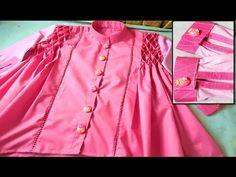 King Design, S Mo, Baby Shirts, Pin Tucks, Cuff Sleeves, Ruffle Blouse, Shirt Dress, Stitch, Stylish