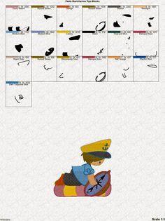 Peixes, Mar, Marinheiros, Piratas, Sereias ...relacionado a crianças - Catálogo de Bordados