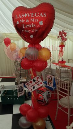 Wedding balloons from www.rothwellballoons.co.uk Personalised Balloons, Balloon Pictures, Celebration Balloons, Wedding Balloons, Wakefield, Ballon, The Balloon, Casino Theme, Leeds