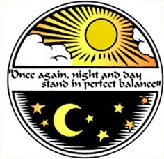 The vernal equinox.  Thursday March 20th.