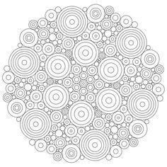 Mandala simple à imprimer pour les adultes qui veulent se déstresser dans 11 coloriages de mandalas pour adultes à imprimer pour se détendre