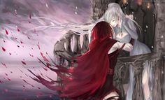 [speedpaint RubyxWeiss] Once more by 10Juu.deviantart.com on @DeviantArt