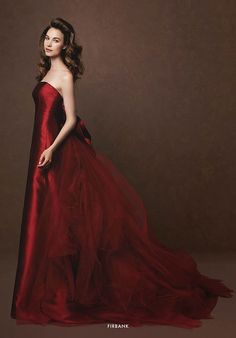 """This Hot Red number would be perfect for Bride's Maid's Dresses!  iamnotreallyintofashion: """" Elisabetta Polignano """""""