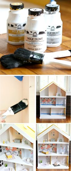 This DIY Modern Dollhouse is charming and stylish. Whether you're making this homemade toy with your child or creating it for a playful gift idea for Christmas, you'll love watching your little one's imagination soar.