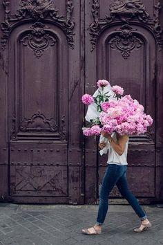beautiful walk with amazing flowers