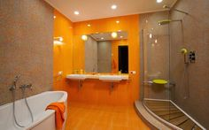 10 Modern bathroom designs and ideas in orange color