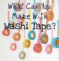Ashley's Dandelion Wishes: What Can You Make With Washi Tape? tons of great ideas Washi Tape Cards, Washi Tape Diy, Masking Tape, Tape Crafts, Diy And Crafts, Cool Diy Projects, Craft Projects, Cinta Washi, Dandelion Wish