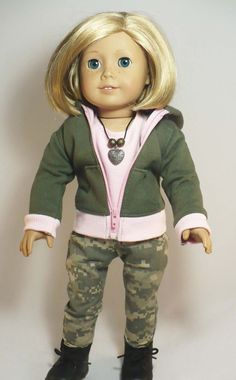 American Girl 18 inch doll clothes outfit   camo by WhoaItsMe, $25.00