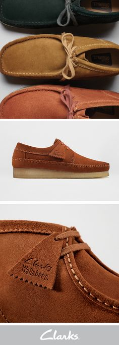 Enjoy the comfort of Clarks Wallabees this fall. Made with leather and suede, pick from 16 different styles and colors to add to your fall wardrobe. The Wallabee has become a classic across the globe in Clarks Originals® Collection, so don't miss out on an opportunity to own this signature look.