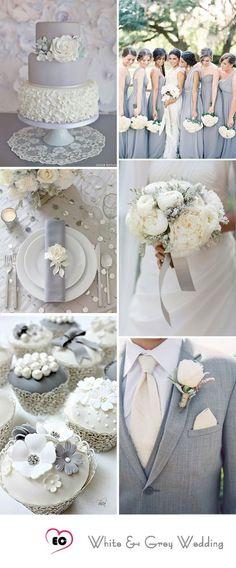 grey wedding color sheme