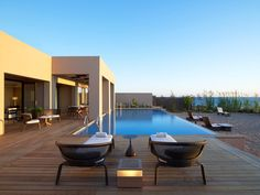 The Romanos, a Luxury Collection Resort, Villa Ithomi. Greece Resorts, Hotels And Resorts, Luxury Resorts, Design Hotel, Porches, Boutiques, My Pool, Luxury Holidays, Romantic Getaways