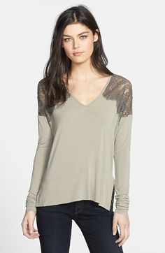 Bailey 44 'Pillow Fight' Lace Trim  Long Sleeve Top available at #Nordstrom