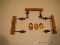 Tiradores y bocallaves Art Deco, usados, 30 €