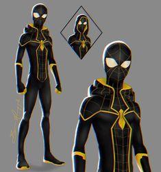 Marvel Art, Marvel Comics, Spider Art, Spider Verse, Comic Character, Character Design, Spiderman Pictures, Miles Morales Spiderman, Spiderman Suits