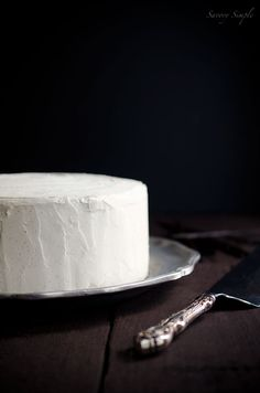 Cardamom Vanilla Bean Layer Cake - perfect for Christmas parties!