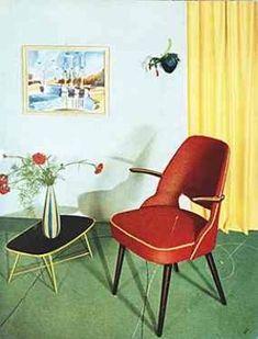 Wohnzimmer 50er / Schwarze Beine 2