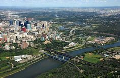 The natural river valley parkland is only steps away from downtown in the City of Edmonton.