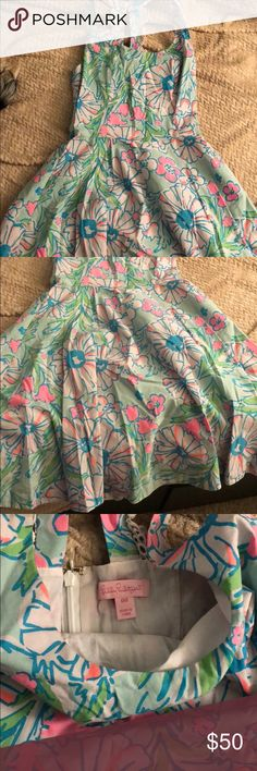 Lilly dress My favorite Lilly dress, so cute on. Worn a couple of times size xxs Lilly Pulitzer Dresses