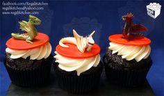 Game of Thrones Cupcakes   Dragons Cupcakes   Targaryen Cupcakes - by The Regali Kitchen