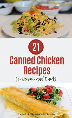 I have A LOT of canned chicken. I realized that I need to make more meals with it—especially since it is a convenient and inexpensive way to add protein to a meal. Can Chicken Recipes, Keto Chicken, Chicken In A Can, Chicken Meals, Rotisserie Chicken, Grilled Chicken, Baked Chicken, Cooking Recipes, Healthy Recipes