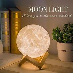moon light for a better sleep – vally shop deal Bedside Lighting, Bedside Table Lamps, Bedroom Lighting, Mood Light, Led Night Light, Day Spa Decor, Home Decor, Print Moon, Moon Light Lamp