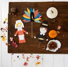 DIY Thanksgiving Puppets   Oh Happy Day!