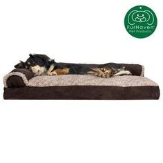 Furhaven Medium Two-Tone Faux Fur And Suede Deluxe Chaise Lounge Pillow Sofa-Style Pet Bed- Dark Sage 24341084 Dog Couch, Dog Beds For Small Dogs, Sofa Styling, Pet Dander, Grey Stone, Color Stone, Pet Beds, Sofa Pillows, Doge