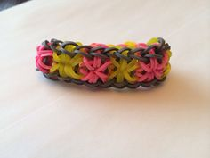 Items similar to Loom starburst bracelet made to order on Etsy Starburst Bracelet, Bracelet Making, Loom, Trending Outfits, Unique Jewelry, Handmade Gifts, Crochet, Bracelets, Girls