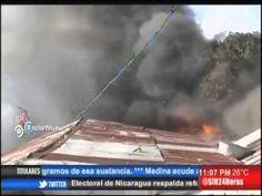 Diez familias en la calle tras incendio en Santiago #Video - Cachicha.com