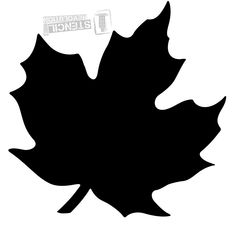 Maple Leaf Stencils on Stencil Revolution