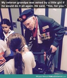 Faith In Humanity Restored – 10 Pics -- These are the types of veterans and active soldiers I respect and support. Sweet Stories, Cute Stories, Beautiful Stories, Wow Photo, Thats The Way, Gi Joe, Along The Way, I Smile, Good People