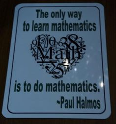 math quotes, deep, thoughts, sayings, paul halmos