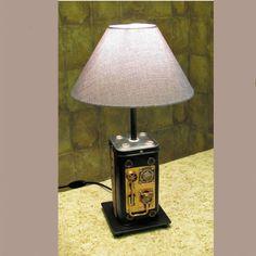 Купить лампа настольная , стимпанк - комбинированный, лампа настольная, стимпанк, медь, латунь, сталь, алюминий