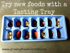 try new foods with a tasting tray