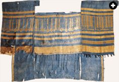 """TEXTILE MUSEUM  This fragment of a robe of honor dates to about the year 1000 in Baghdad. Sewn into it is a certificate of office: """"For the use of Abu Said Zandanfarruk ibn Azamard, the Treasurer."""""""