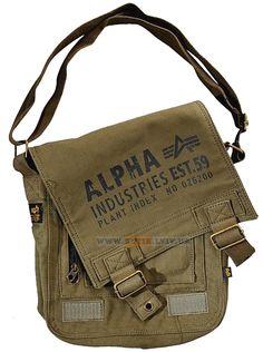 Сумка Alpha Industries Canvas Utility Bag (оливкова)  Ціна: 43 $