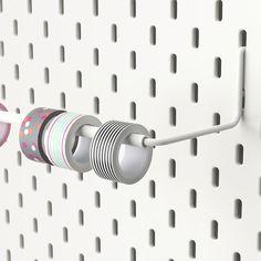 SKÅDIS斯凯迪辊架,白色-IKEA Ikea Skadis, Ikea Wall, Paper Towel Rolls, Paper Towel Holder, Storage Hooks, Wall Storage, Craft Storage, Paper Storage, Duct Tape