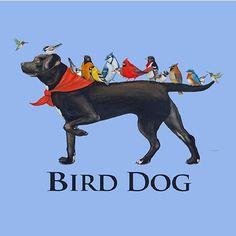 Bird Dog T-shirt Black Lab Birds Unisex S M L XL 2XL FREE SHIP USA Blue Cotton…