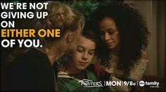The Fosters.. this show.. SOO ADDICTIVE!! :) I absolutely love it. Makes me cry and smile, and hang on until next Monday!!!