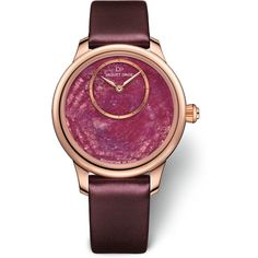 Jaquet Droz Petite Heure Minute 35mm Ruby Heart Red Gold J005003270