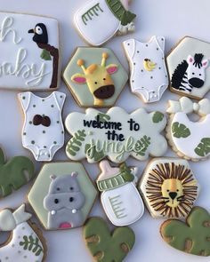 Baby Shower Deco, 2nd Baby Showers, Unisex Baby Shower, Baby Shower Fall, Baby Shower Balloons, Baby Shower Themes, Baby Boy Shower, Safari Party, Safari Theme