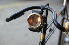 Great old lamp on an equally great old BSA...