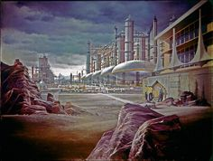 Delta Vega Cracking Station: The late Albert Whitlock's iconic matte painting of the cracking station on Delta Vega as featured in the second pilot of Star Trek from 1965. The story was later edited slightly and made into the TOS episode Where No Man Has Gone Before.