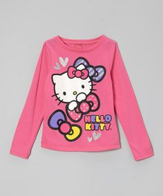 Take a look at this Carmine Rose 'Hello Kitty' Glitter Tee - Toddler & Girls by Hello Kitty on #zulily today!